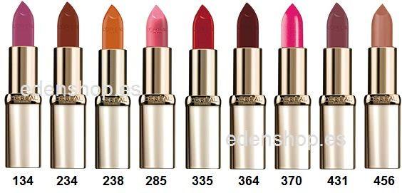 barra labios loreal color riche