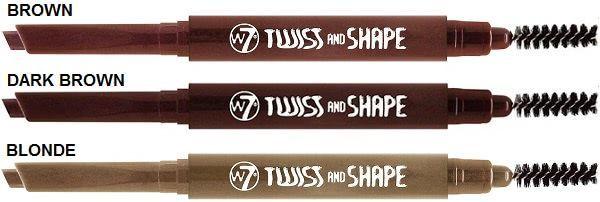 W7 Eyes Twist & Shape Lápiz de Cejas con Cepillo