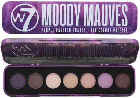 W7 Moody Mauves Paleta de sombras
